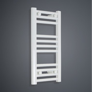 350mm Wide 600mm High Flat White Towel Radiator