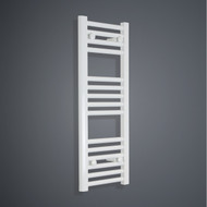 350mm Wide 800mm High Flat White Towel Radiator
