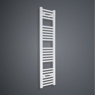 350mm Wide 1200mm High Flat White Towel Radiator
