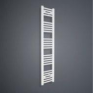 350mm Wide 1400mm High Flat White Towel Radiator