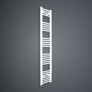350mm Wide 1600mm High Flat White Towel Radiator