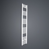 350mm Wide 1800mm High Flat White Towel Radiator