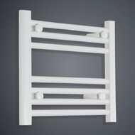 400mm Wide 400mm High Flat White Towel Radiator