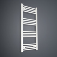 400mm Wide 1100mm High Flat White Towel Radiator