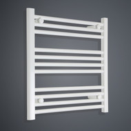500mm Wide 600mm High Flat White Towel Radiator