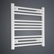 600mm Wide 600mm High Flat White Towel Radiator