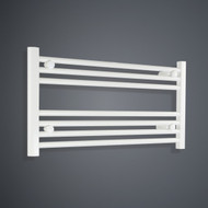 700mm Wide 400mm High Flat White Towel Radiator