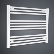 700mm Wide 600mm High Flat White Towel Radiator