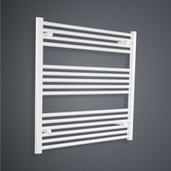 700mm Wide 800mm High Flat White Towel Radiator
