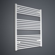 700mm Wide 1000mm High Flat White Towel Radiator
