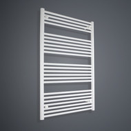700mm Wide 1200mm High Flat White Towel Radiator