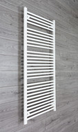 700mm Wide 1500mm High Straight White Towel Radiator