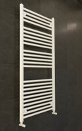 Flat white 700mm wide by 130mm high heated towel rail radiator
