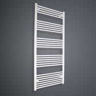 750mm Wide 1800mm High Flat White Towel Radiator