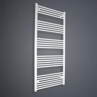 800mm Wide 1600mm High Flat White Towel Rail