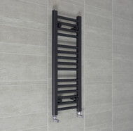 300 x 800mm Flat Black Heated Towel Rail Radiator