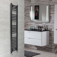 300 x 1400mm Flat Black Heated Towel Rail Radiator