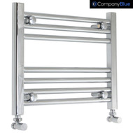 450mm Wide 400mm High Straight Chrome Towel Radiator