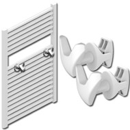 White V Shape Towel Rail Hooks
