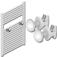 Towel Radiator Pegs in White