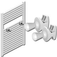 White Towel Radiator Pins