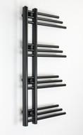 Difta Designer Towel Rail Radiator Black 500mm wide 900mm high Bathroom