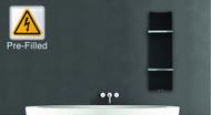 Prefilled Electric Designer Radiator Black Bone 300mm wide 1200mm high Bathroom Rad New Style
