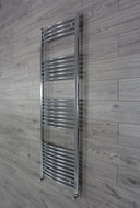 Chrome Heated Towel Rail Radiator Curved 600 x 1800