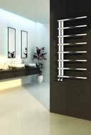 Reina Celico Polished Heated Towel Rail Radiator 500mm Wide x 1000mm High