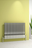 Reina Nerox Single Polished Heated Radiator 590 mm Wide x 600mm High