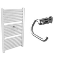 Towel rail toilet roll holder in Chrome
