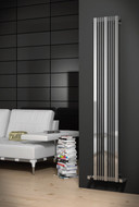 Reina Lavian Polished Heated Radiator 430 mm Wide x 1800mm High