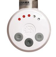 White Thermostatic Heating Element - MEG For Heated Towel Rail Radiator