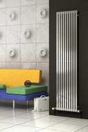 Reina Xeina (Brushed) Stainless Steel Heated Radiator 245mm Wide x 1800mm High