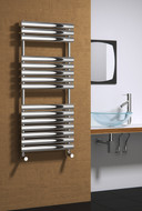 Reina Helin Polished Heated Towel Rail Radiator 500 mm Wide x 1535 mm High