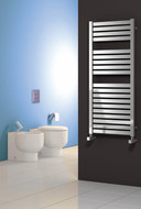 Reina Aosta Polished Heated Towel Rail Radiator 530 mm Wide x 1120 mm High