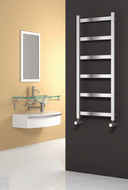 Reina Mina Satin (Brushed) Heated Towel Rail Radiator 480mm Wide x 750mm High