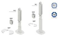 Panel radiator floor stand brackets