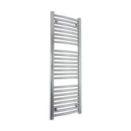 400mm Wide 1200mm high Curved Chrome Heated Towel Rail Bathroom Radiator