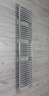 450mm Wide 1800mm high Curved Chrome Heated Towel Rail Bathroom Radiator
