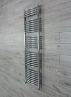450mm Wide 1650mm high Curved OProflie Chrome Heated Towel Rail Bathroom