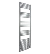 500mm Wide 1760mm high Curved Chrome Heated Towel Rail Bathroom Radiator