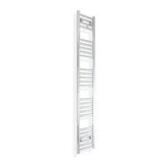 200mm Wide 1400mm Tall Straight Chrome Towel Radiator
