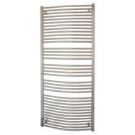 750mm Wide 1800mm high Curved Chrome Heated Towel Rail Bathroom Radiator