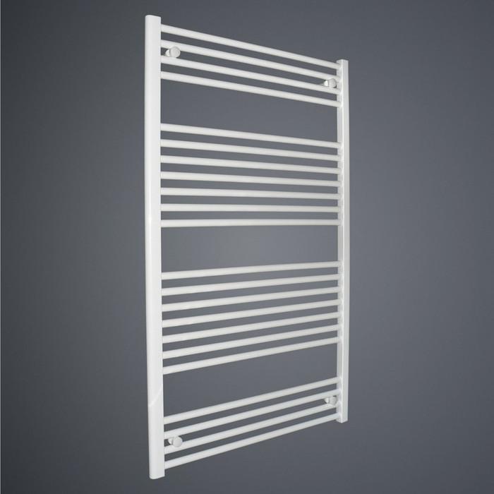 450 x 1217 Straight White Heated Towel Rail Bathroom Radiator