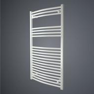 600 x 1150 Straight White Heated Towel Rail Bathroom Radiator