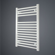 500 x 775 Straight White Heated Towel Rail Bathroom Radiator.