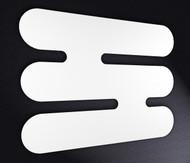 White Designer 800mm Wide Heated Towel Rail