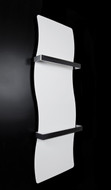 Designer Heated Towel Rail Radiator Wave Style White