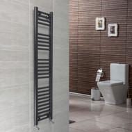 300 x 1600mm Flat Black Heated Towel Rail Radiator